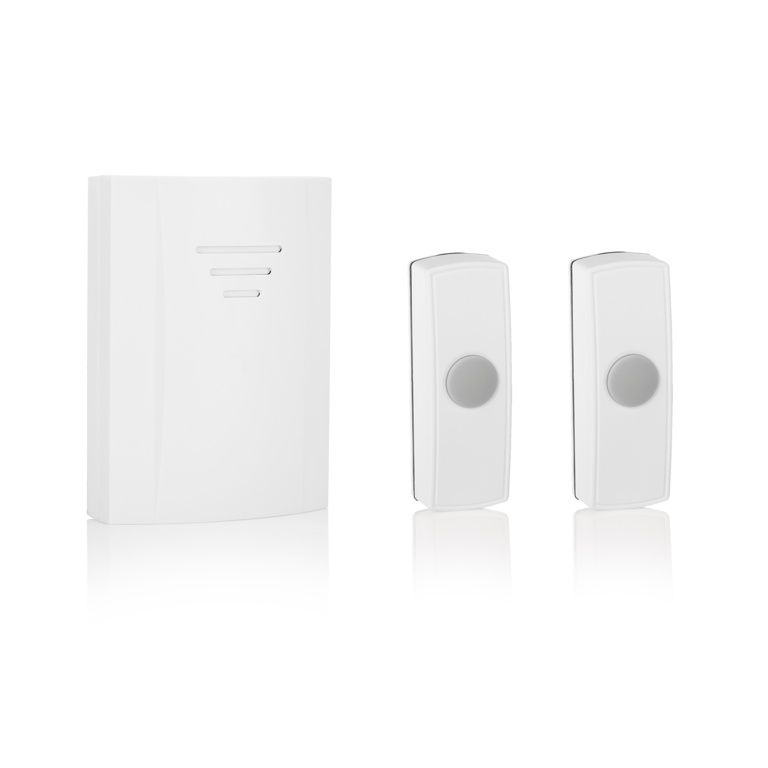 Byron B314 50m Wireless Doorbell With Portable Chime 2 Bell Pushes Wiring A Melody
